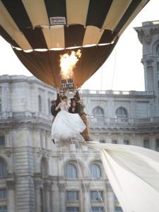 worlds longest wedding gown wearing in baloon